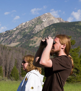 Robin and Jeff taking in the view on the West slope of RMNP.