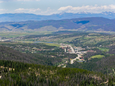 View of the town of Winter Park from the Alpine Slide chair lift.
