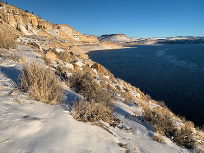 Blue Mesa Reservoir, along the Gunnison River in Colorado in December 2020. Photo by Mitch Tobin, The Water Desk