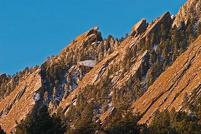 Flatirons - Easter Sunrise - from Chataqua Park, Boulder