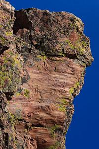 Slickenside surface along fault plane Mt. Sanitas trail, Boulder, CO Fountain Formation sandstone, Pennsylvanian