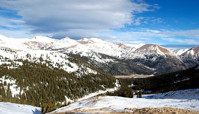 Looking Down from Loveland Pass