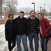 Kelsey, Brett, Joel and Jamie outside  of the law school.