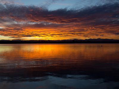 Sunset at Cherry Creek Reservoir