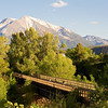 Sopris sits above the Rio Grand Trail and the Roaring Fork River just outside of Carbondale, CO.  I took this photo for a publication on the local bike trail.