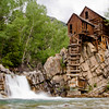 "Perched above the Crystal River the historic Crystal Mill, while it is named the ""Crystal Mill,"" all that remains is the hydroelectric plant that used to power the Mill and much of town of Crystal. It now sits on the 4-wheal drive road between Marble and Crested Butte, Colorado."
