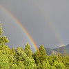 Double rainbow from the deck