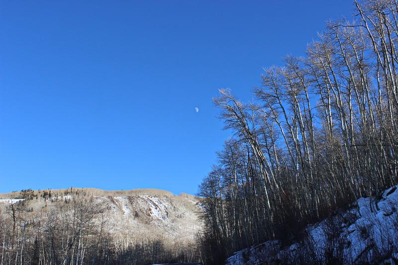 Moon over Grand Mesa