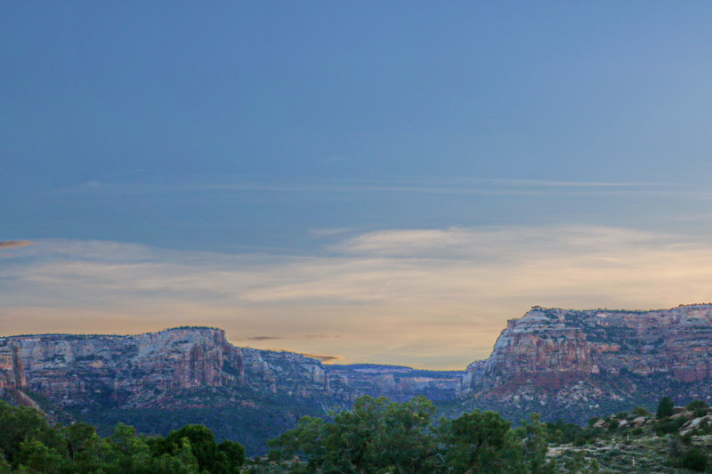 Colorado National Monument and Grand Mesa at Dusk