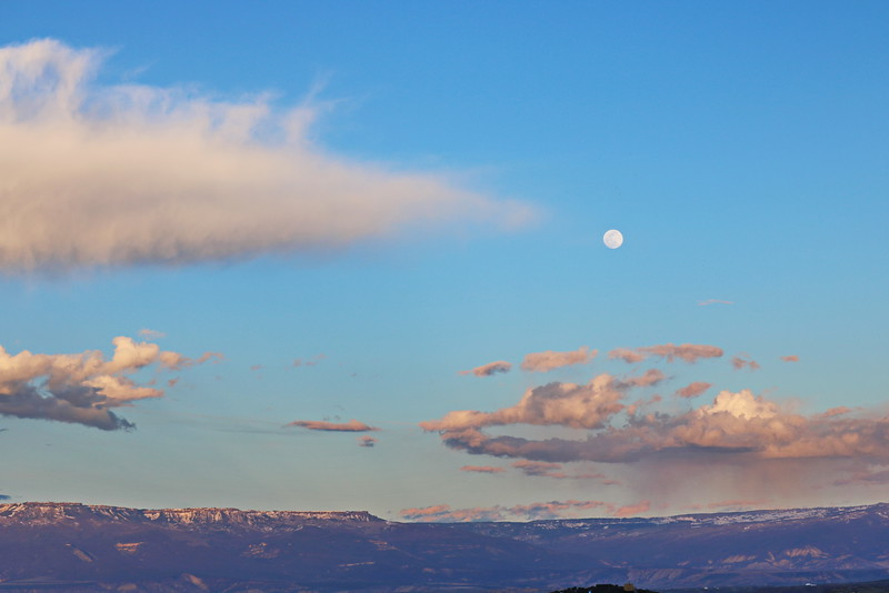 Moonrise over the Grand Mesa