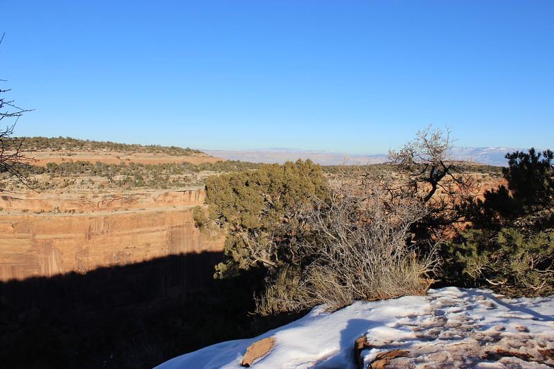 Ute Canyon Overlook in Winter