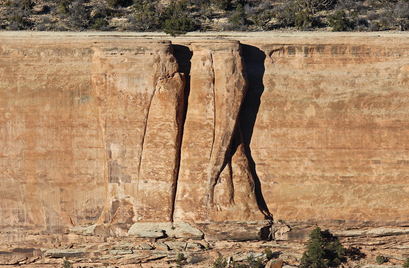 Sheer Rock Wall Formation