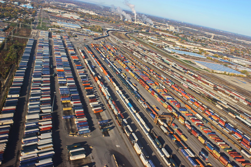Trains and Shipping Containers