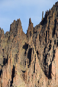 Eroded spires of Tertiary volcanics, on the west flanks of Mt Sneffels Yankee Boy Basin, San Juan Mountains
