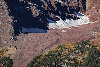 Pleistocene rock glacier spilling out of a hanging valley, from the Maroon Creek trail, Aspen, Colorado 4 vertical images stitched - 400mm