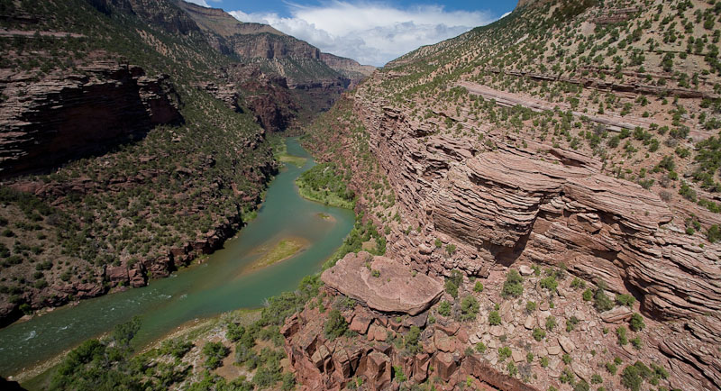 Lodore Canyon from Limestone Camp Overlook - Dinosaur National Park