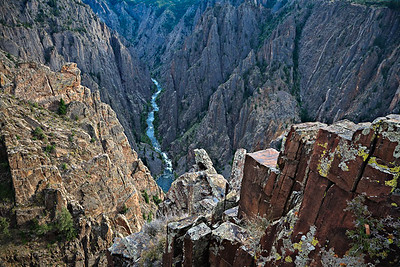 Jointed Precambrina metamorphics North Rim, Black Canyon of the Gunnison