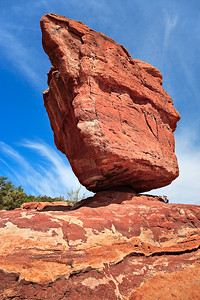 Balanced Rock - 700 tons - Garden of the Gods fluvial conglomerate - Fountain Formation, Pennsylvanian