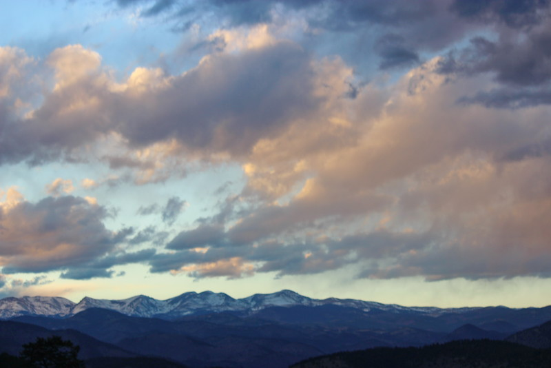 Sunset Sky over the Rockies