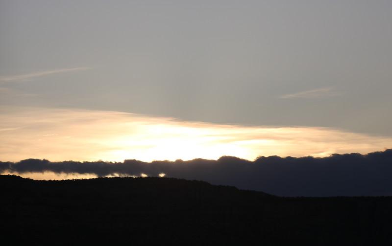 Sundown over Book Cliffs