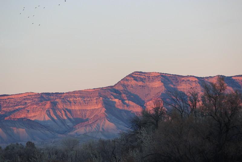 Book Cliffs at Sunset