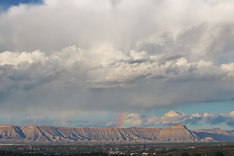 Book Cliffs and Colorado National Monument Rainbow