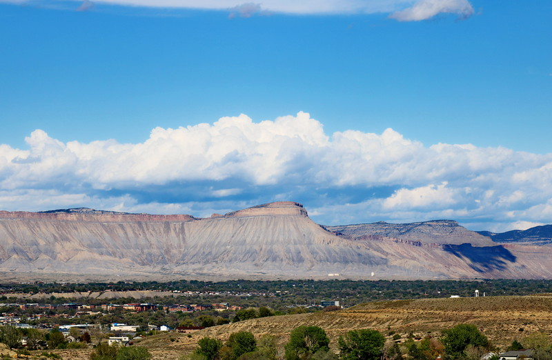 Neighborhood Development at the Foot of the Book Cliffs and Mount Garfield, Colorado National Monument