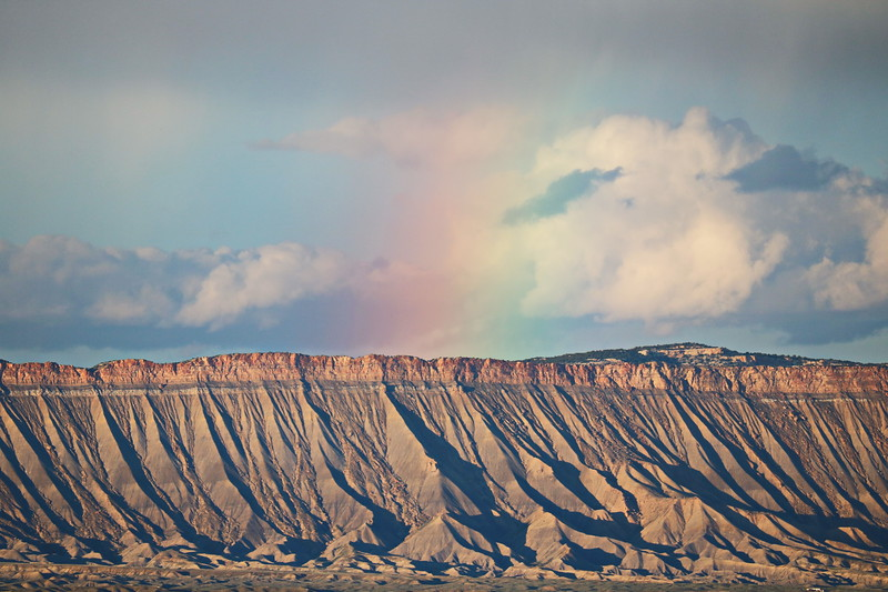 Rainbow over the Book Cliffs