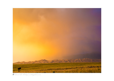 Evening summer thunderstorm, Great Sand Dunes National Park, CO