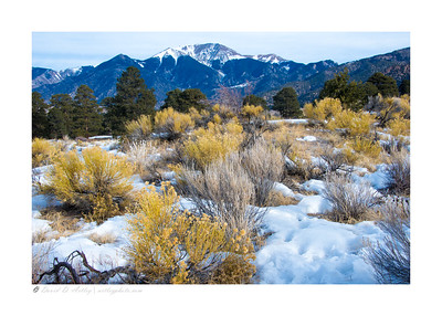 Backcountry dunes in winter, Great Sand Dunes National Park, CO