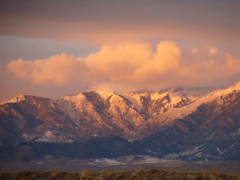 Sunset in the Sangre de Cristo Mountains