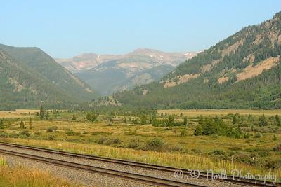 The peaks of James Peak Wilderness off in the distance.