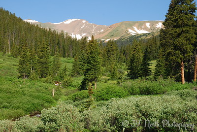 The peaks of the Continental Divide at the head of Herman Gulch