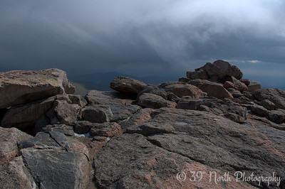 The other 4 or 5 people on the summit with me headed back down very quickly and I had the top of Mount Evans to myself for 10-15 minutes. It was very cool.