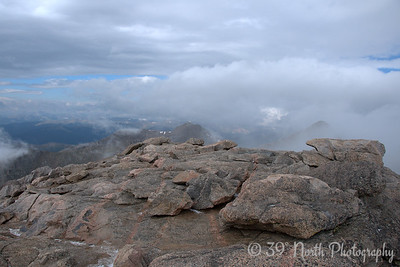 Within a minute or two of reaching the summit, the cloud cover lifted and the view was amazing.