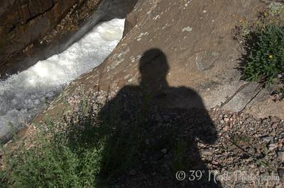 "Self ""portrait"" at Poudre Falls"