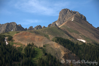 Nokhu Crags from Hwy 14 just south of Cameron Pass