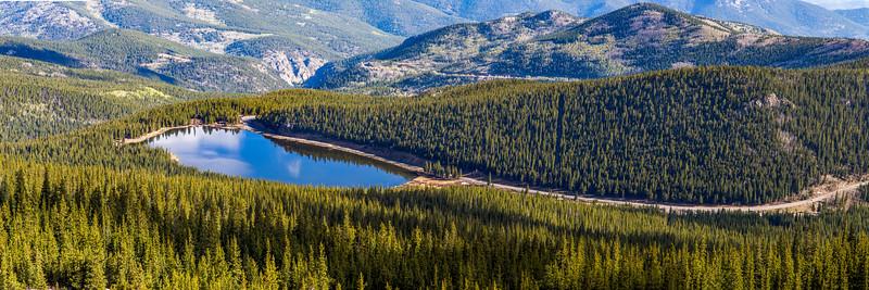Echo Lake from Mt Evans Highway