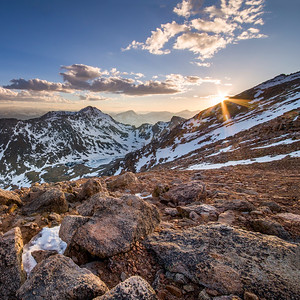 Sunset from Mount Evans