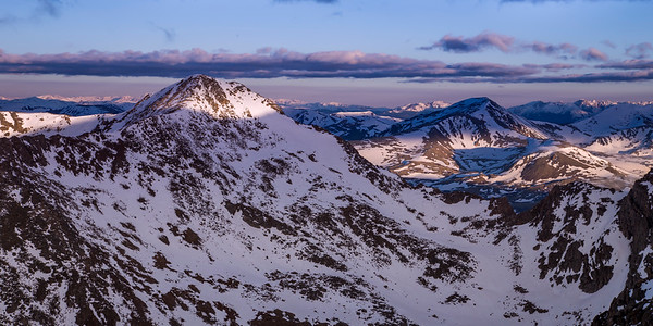 First Light on Mount Bierstadt