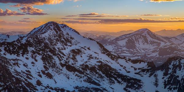 Mount Bierstadt at Sunset Panorama