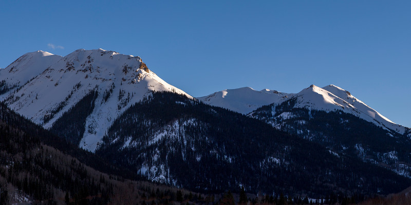 Last Light on Winter Peaks in Ouray