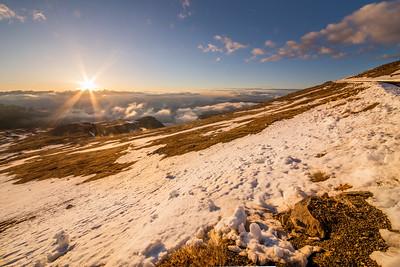 Sunrise from Mount Evans