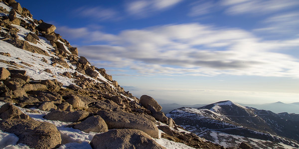 Mount Evans Clouds in Motion 2x1 Panorama