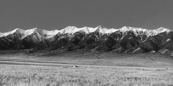 Sangre de Cristos  Dusk in Black and White