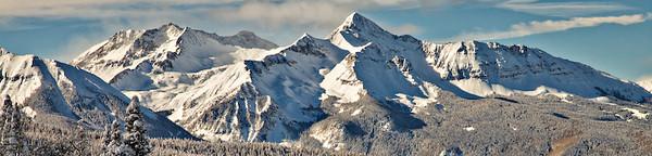 Wilson Peak from Telluride Ski Area, San Juan Mountains, Colorado