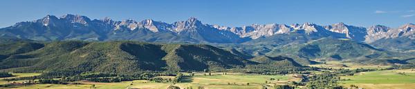 Sneffels Wilderness from Log Hill Road, San Juan Mountains, Colorado