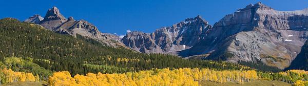 Sneffels Wilderness from County Rd 7, San Juan Mountains, Colorado