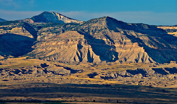 Evening light on the Book Cliffs, viewed from the Colorado National Monument