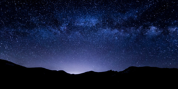 Late Night over Mount Bierstadt
